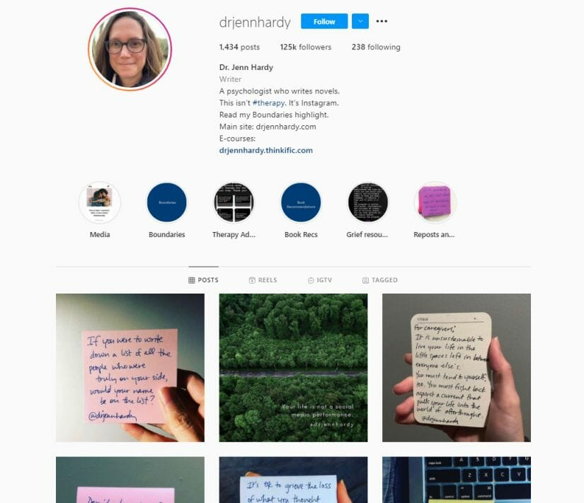 Instagram for therapists