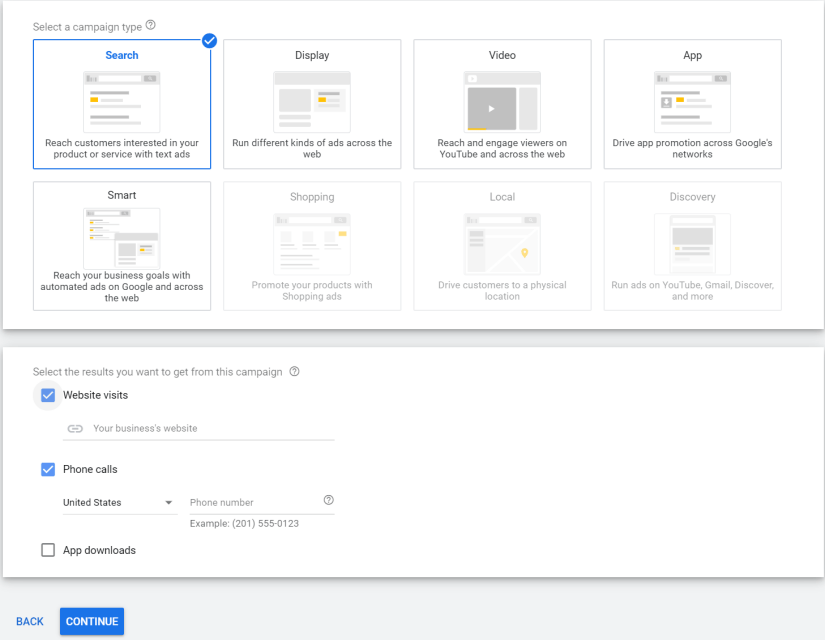 search-campaign-settings