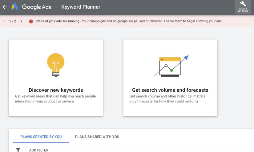 Discover keyword options