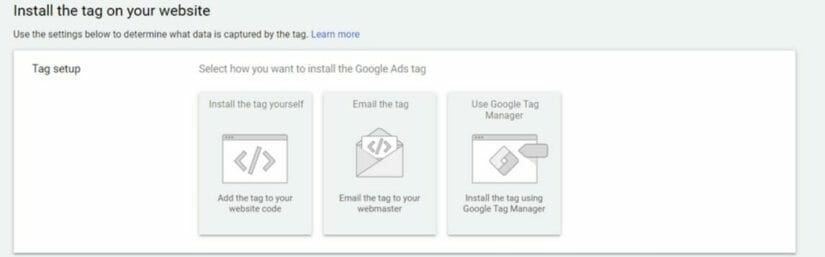 Installing the tag on your website