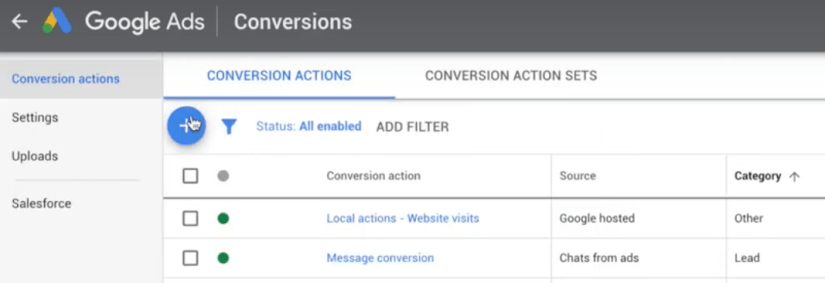 google ads for real estate agents measure converions