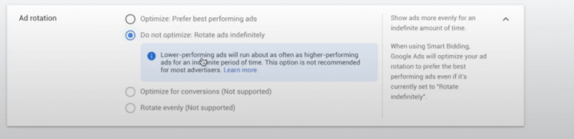 google ads for veterinarians ad rotation