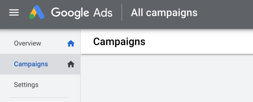 click campaigns tab on the left bar