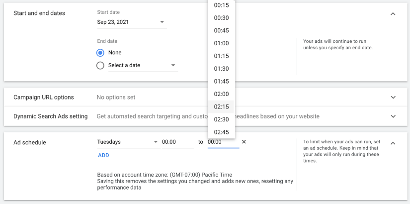 create an ad schedule for your google ads for escape rooms