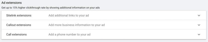 google ads for veterinarians ad extensions