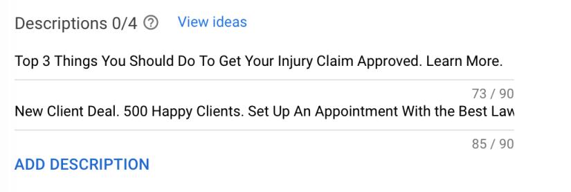 write ad description
