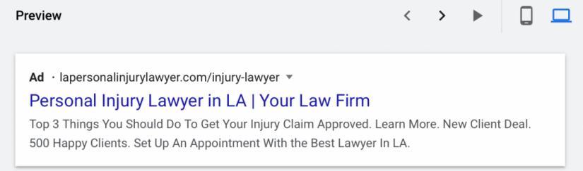 personal injury lawyer desktop preview