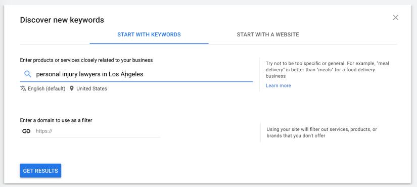 enter target keyword