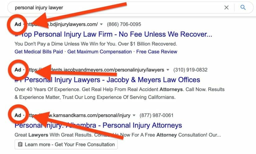 """google search results for """"personal injury lawyer"""""""