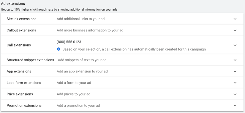 create ad extensions for your google ads for escape rooms
