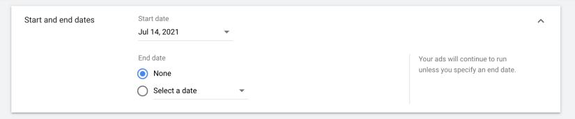 set google ads schedule
