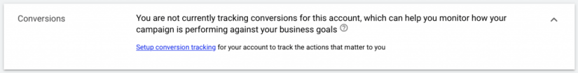 set up conversion tracking for google ads for escape room campaign