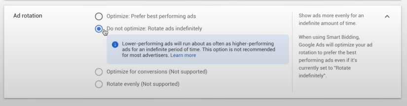 Do not optimize google ads for real estate agents. Rotate ads indefinitely.