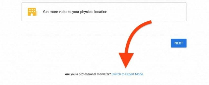 switch to expert mode