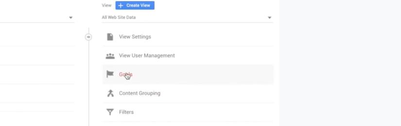 select goals under site data to link goals