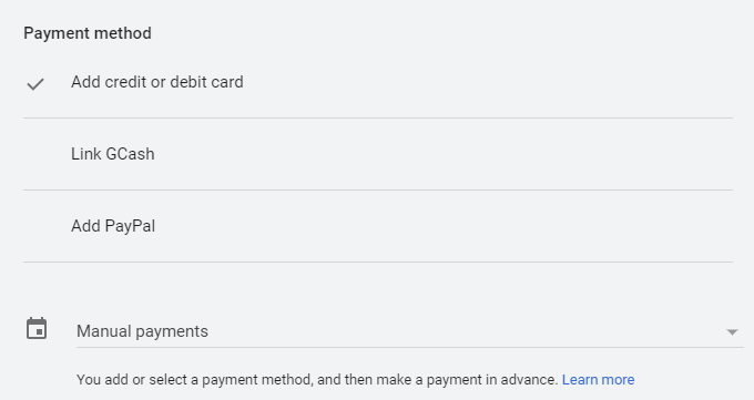 Select a payment method for your ppc for wedding dj