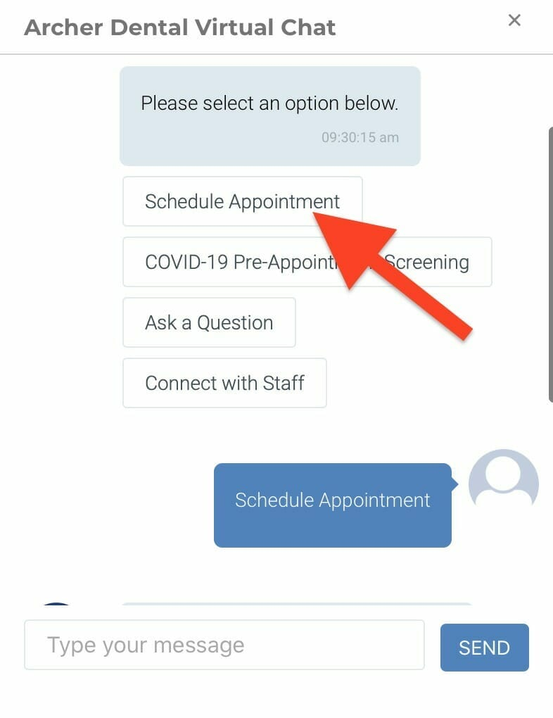chatbots for dental practices appointment booking feature