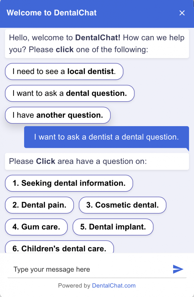 example of how to automate your practice using chatbots for dental practices