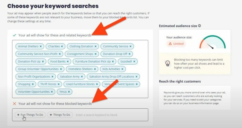 select the best keywords for your dental practice yelp ads