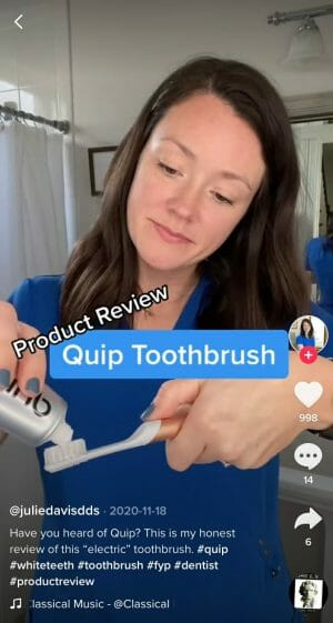 tiktok for dentists product review video example