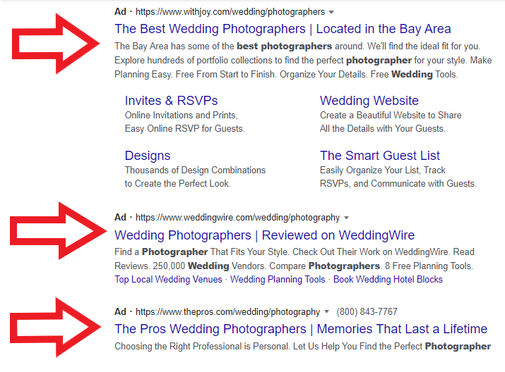 best wedding photographer search results