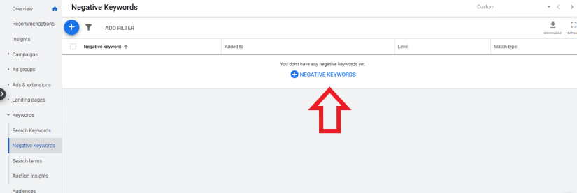 add negative keyword for house painter ppc
