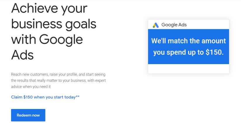 Google ads voucher