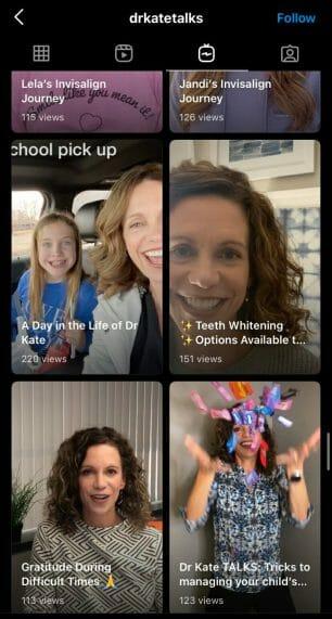 IGTV dental videos