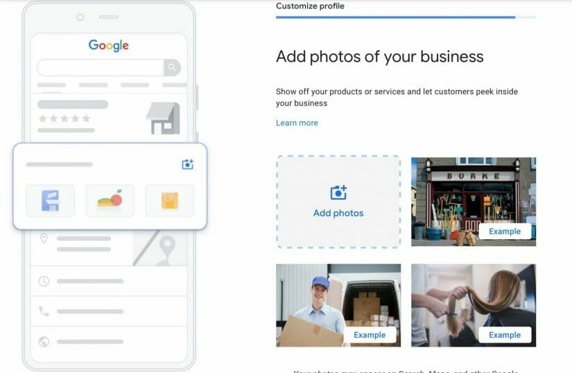 add photos to your listing that will help turn visitors into patients