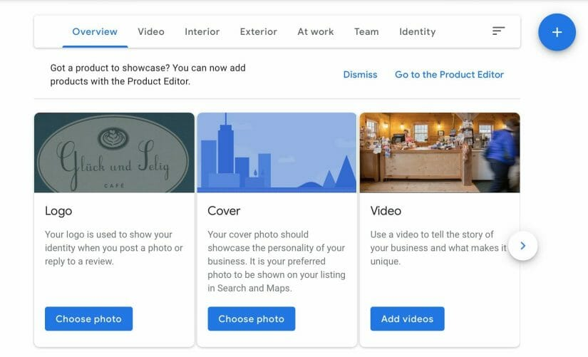 upload a cover photo, logo and videos to your profile
