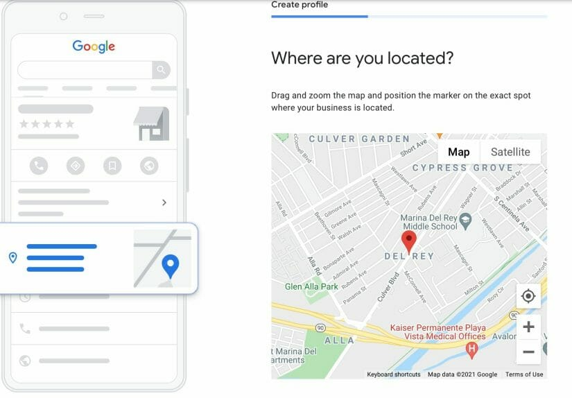 pin yout location on the map so users can see it on google maps