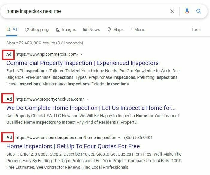 sample ppc home inspectors near me