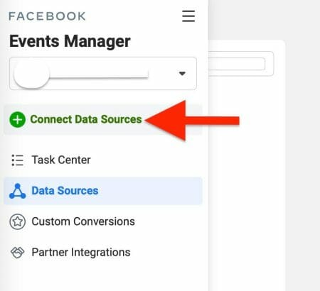next, click on connect data source to add