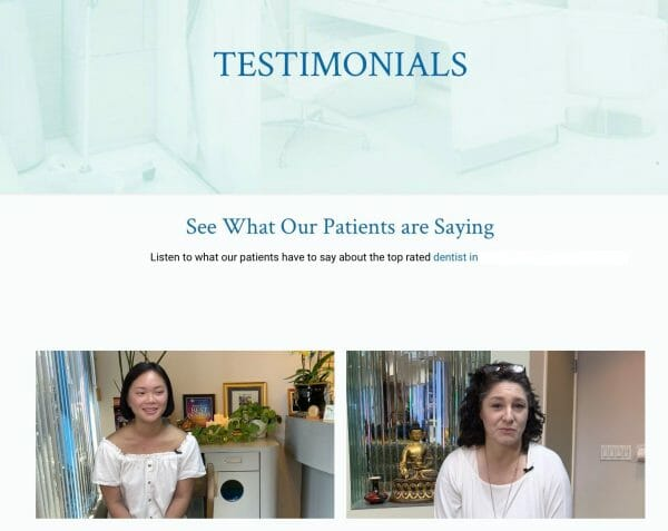 testimonial videos from patients